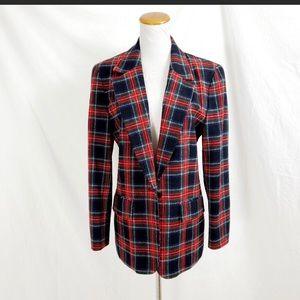 Pendleton 6 Wool Blazer Jacket Red Plaid Classic